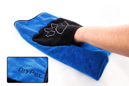 DryPet Mikrofaserhandtuch für Katzen und Hunde